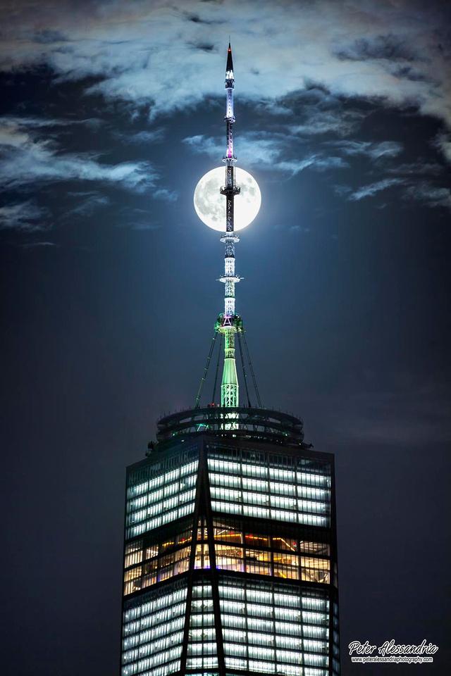 Full Moon over World Trade Center
