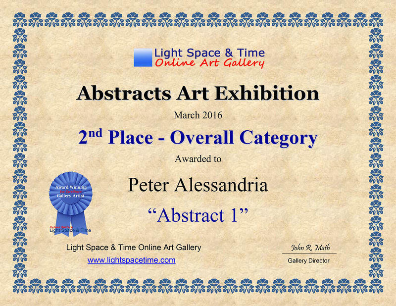 2nd Place -  ABSTRACTS -  2016 ART EXHIBITION