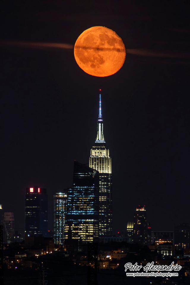 Buck Full Moon Over New York City