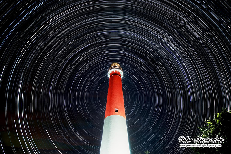 Barnegat Light Star Trail