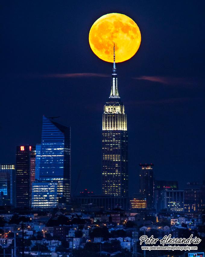 Empire State Building Sturgeon Full Moon