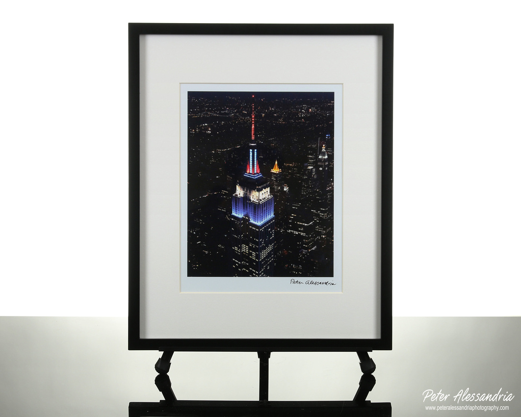 Empire State Building Aerial night
