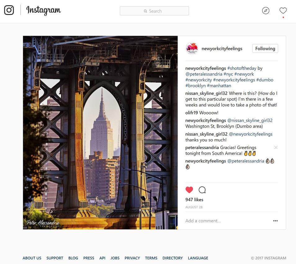 Instagram Photo of the Day -8-28-17
