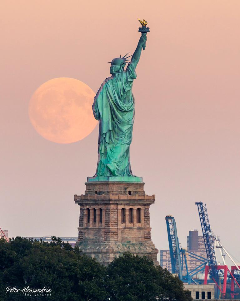 Statue of Liberty Moon