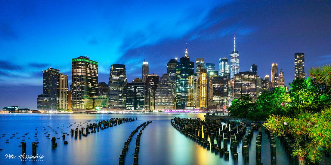 Blue Hour Brooklyn Bridge Park