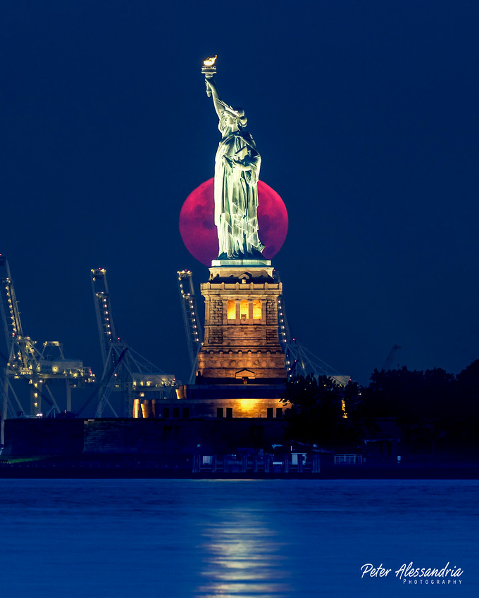 Full Moon Statue of Liberty