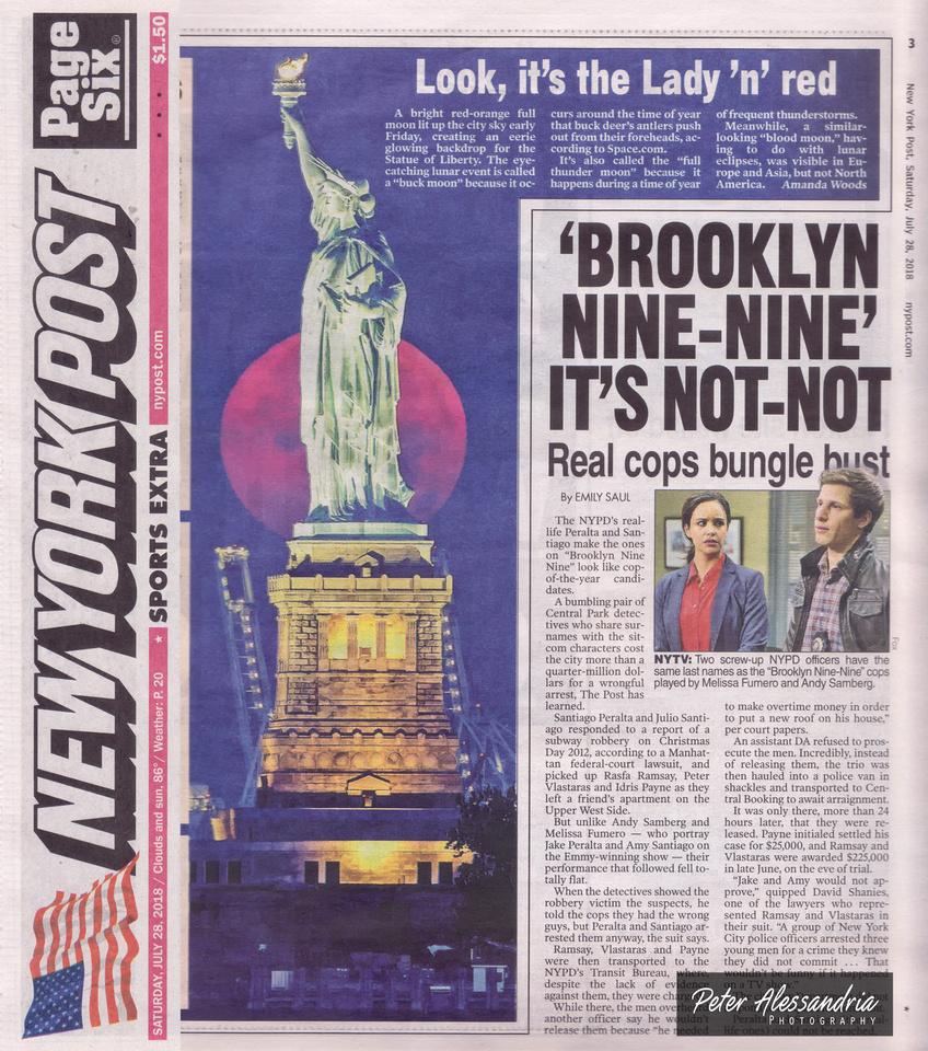 New York Post Statue of Liberty