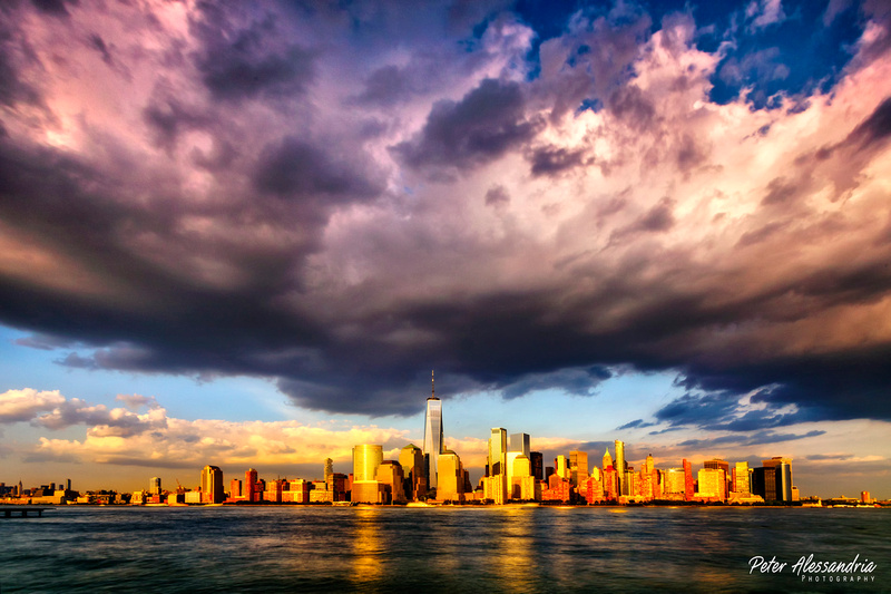 New York City Skyline Clouds