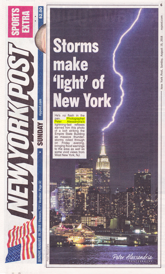 Empire State Building Lightning