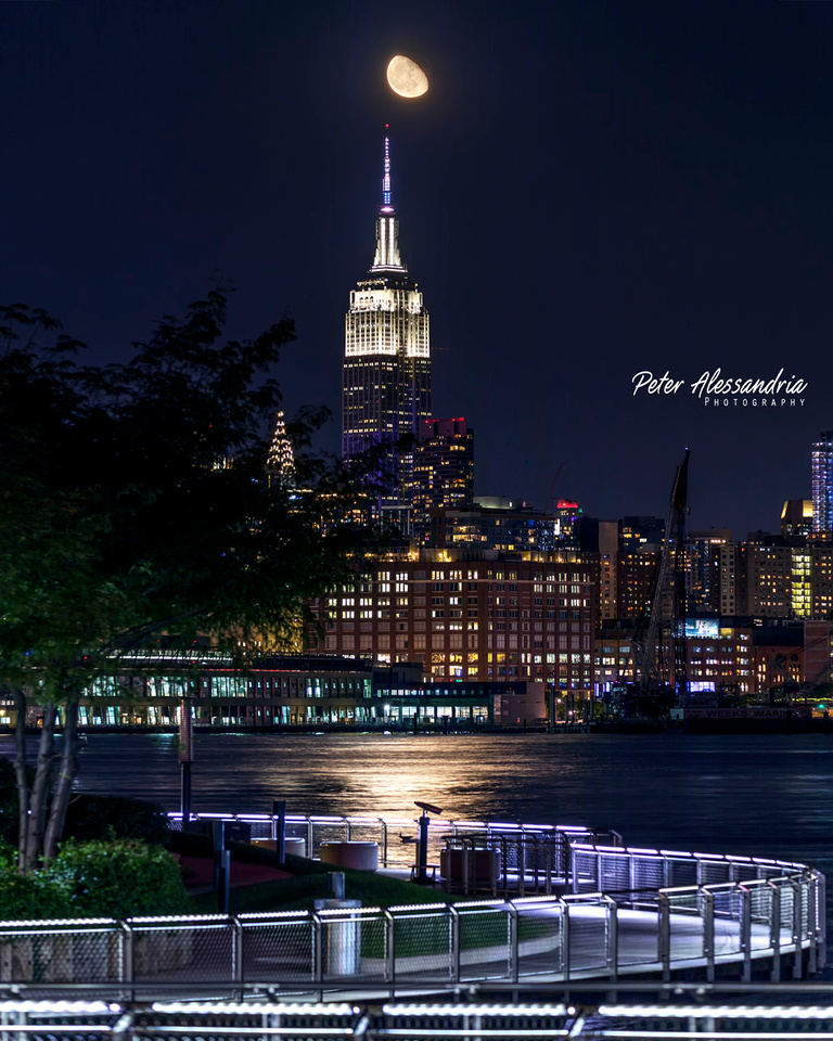 Empire State Building Moon