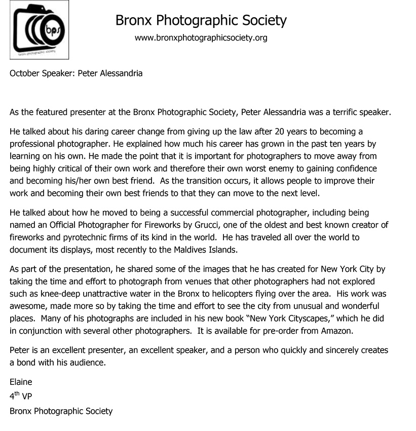 Bronx Photographic Society