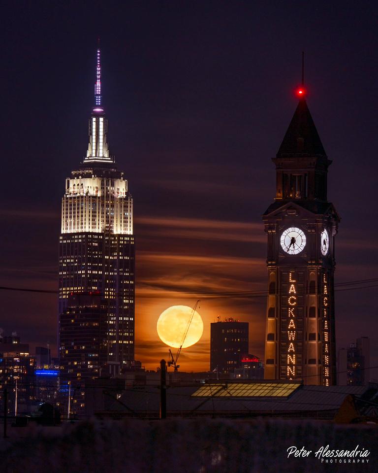 Empire State Lackawanna Moon