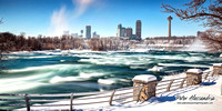 Niagara Falls winter frozen