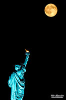 Statue of Liberty Blue Moon