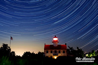 East Point Light Star Trail