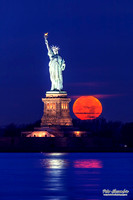 Statue of Liberty Full Moon