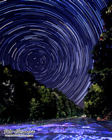 Milky Way Galaxy Star Trails