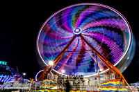 Carnival Rides at Night