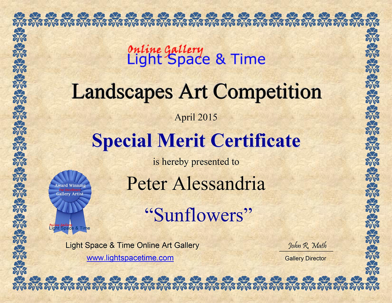 LANDSCAPES  2015 ART COMPETITION CERTIFICATE2