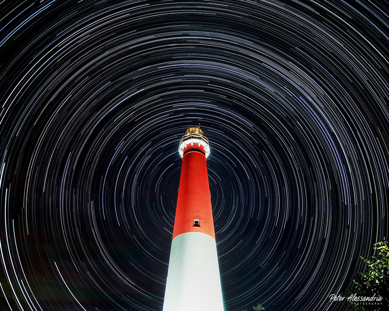 Barnegat Light Star Trail