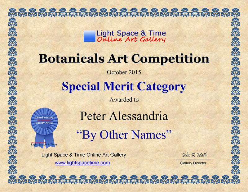 Botanicals 2015 AWARD CERT