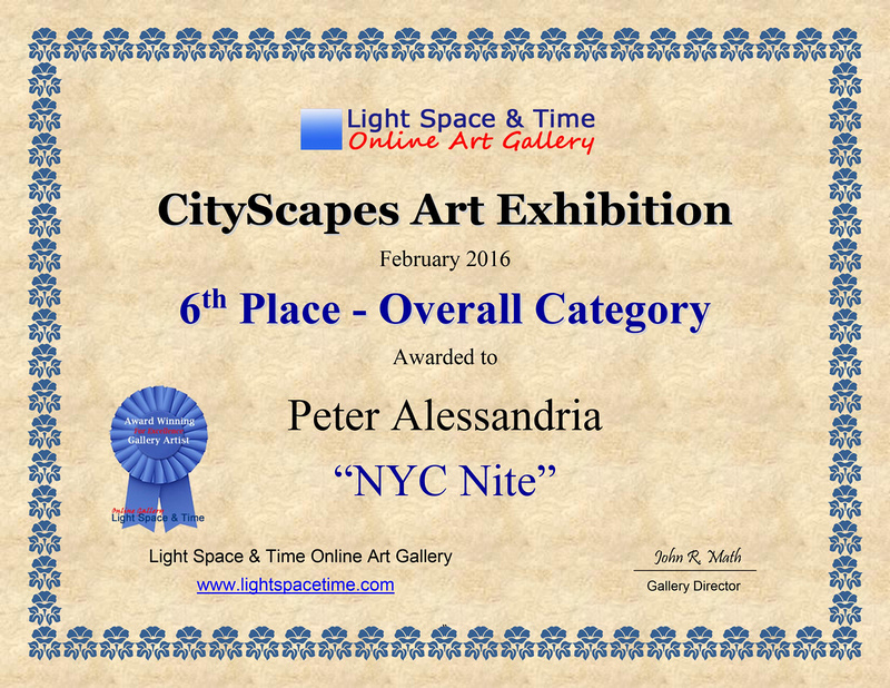 6th Place CITYSCAPES - 2016 ART EXHIBITION