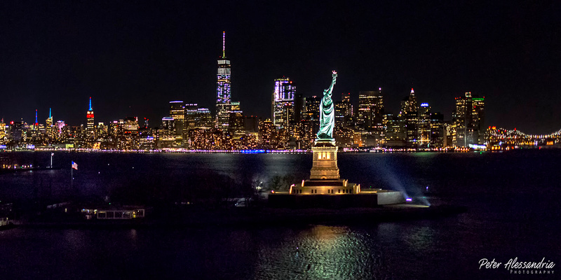 Helicopter Flight Aerial New York City Night