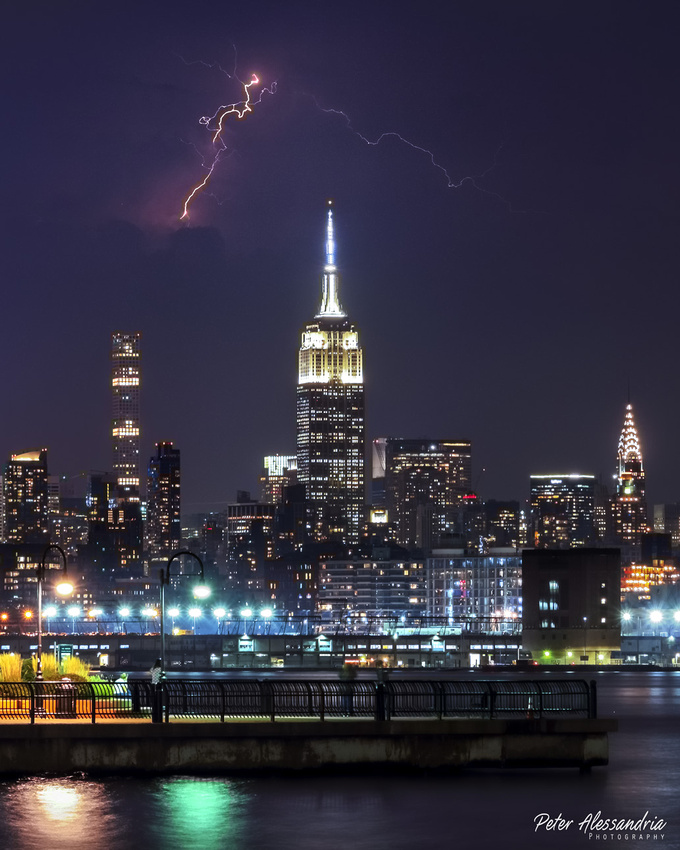 Empire State Building Lightning Strike