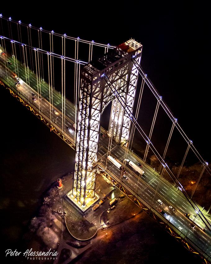 George Washington Bridge Tower Lights