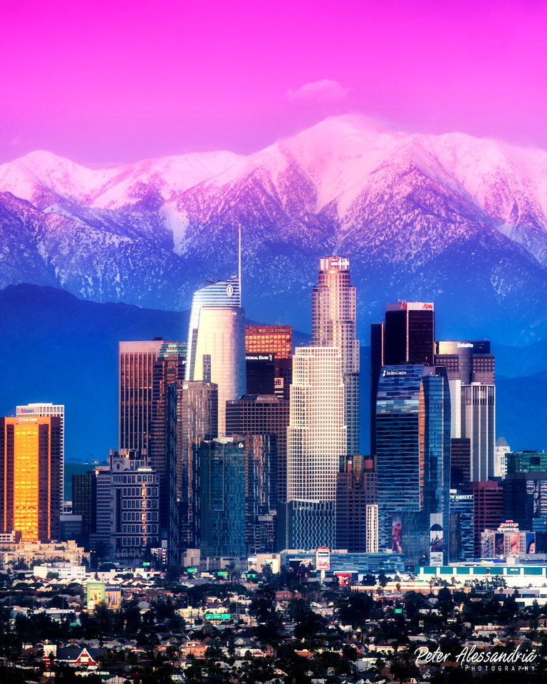 Los Angeles Snow Covered Mountains