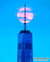 World Trade Center Full Moon New York City
