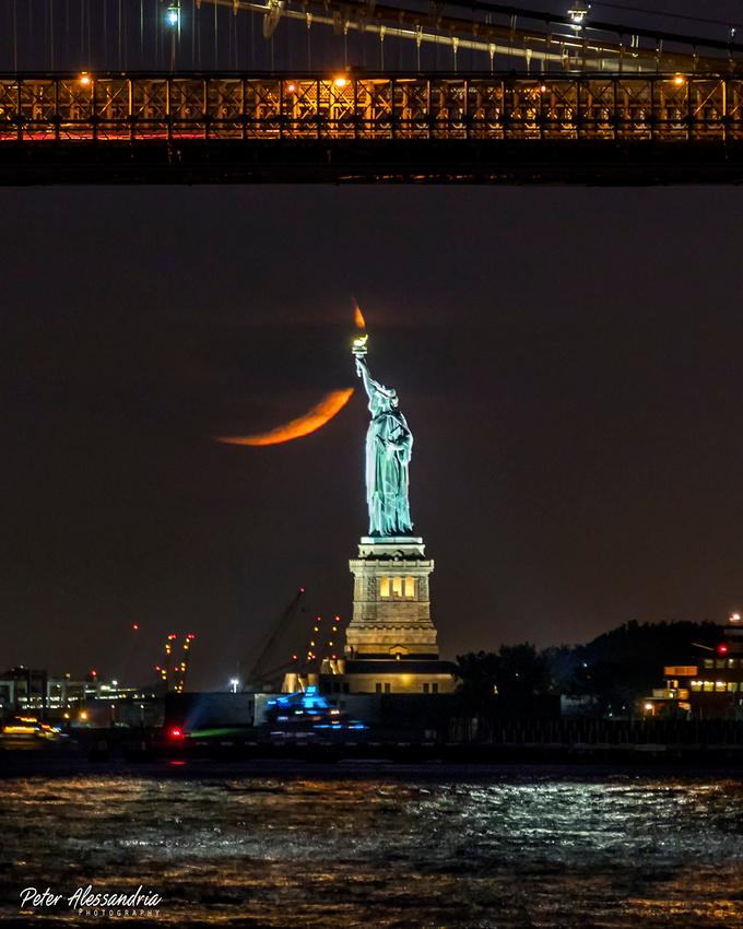 Statue of Liberty Brooklyn Bridge
