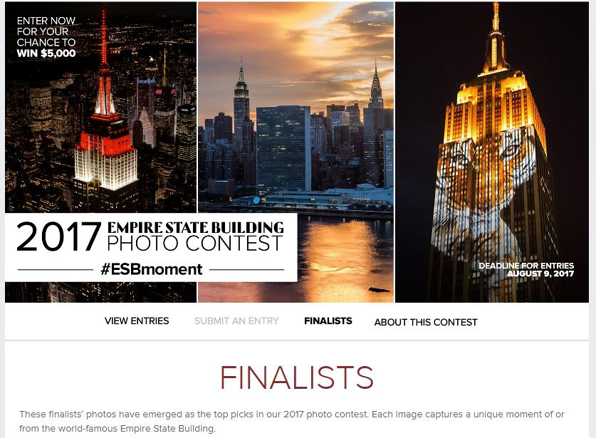 Empire State Building Photo Contest 2017