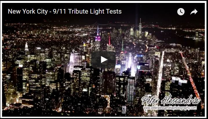 9/11 Tribute Lights testing