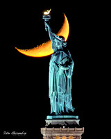 Statue of Liberty Crescent Moon