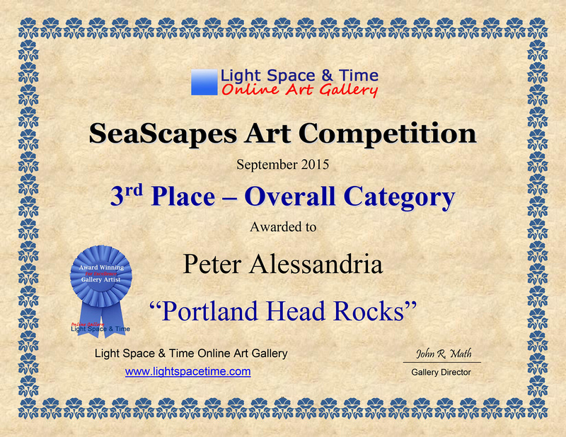 3rd Place SEASCAPES 2015 AWARD CERT