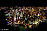 Helicopter Flight New York City Night