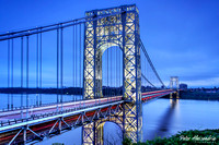 George Washington Bridge Tower Lights