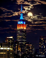 Empire State Building Harvest Moon