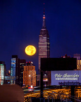 Empire State Building Super Moon